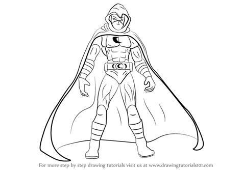 learn   draw moon knight moon knight step  step