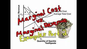 Marginal Cost Vs Marginal Revenue