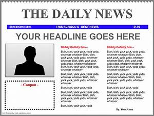 newspaper template get calendar templates With create your own newspaper template