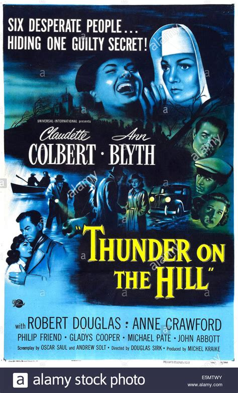 THUNDER ON THE HILL, US poster art, Ann Blyth, Claudette ...