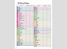 Wedding Budget Spreadsheet Template Wedding Spreadsheet