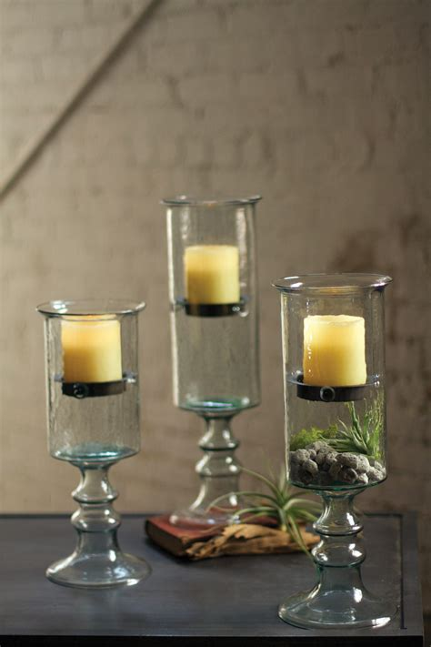 large hurricane ls for candles large mini glass candle cylinder with metal insert and