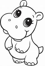 Hippo Coloring Printable Dancing Going Normal Smiling Funny Categories Animals Coloringonly sketch template