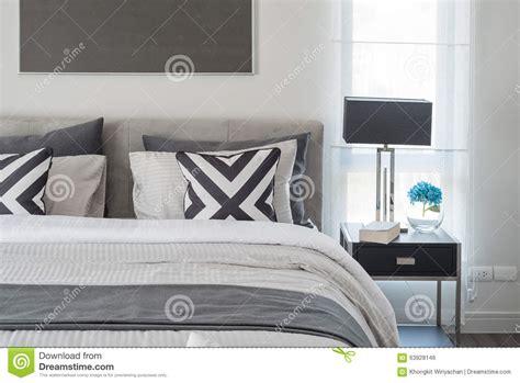 chambre moderne noir et blanc style moderne noir et blanc de chambre à coucher avec la