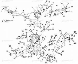 Polaris Atv 1997 Oem Parts Diagram For Engine Mounting