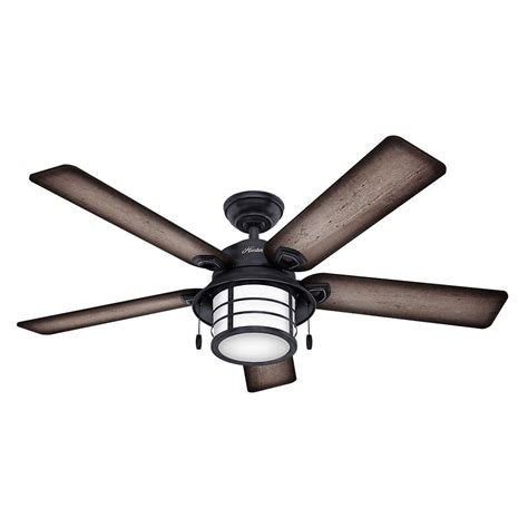 weathered gray ceiling fan hunter key biscayne 54 in indoor outdoor weathered zinc