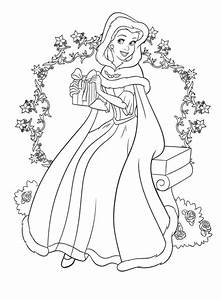 disney christmas printable coloring pages - coloring pages princesses belle