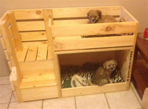 doggie bunk beds  images dog bunk beds pallet dog