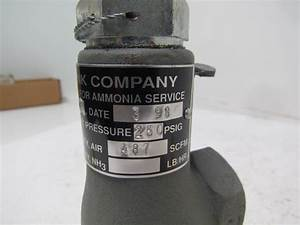Cyrus Shank 803th Ammonia Safety Relief Valve 1  2 U0026quot In 3  4