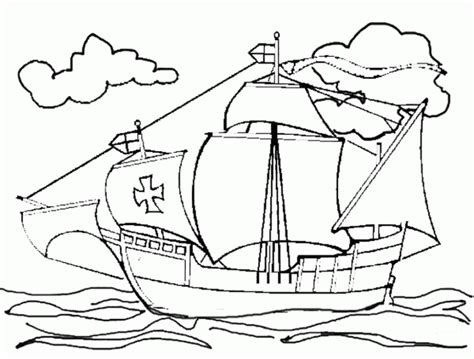Christopher Columbus Boat Jesus by Christopher Columbus Ships Coloring Pages Gekimoe 20689