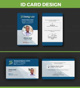 id card design template designub