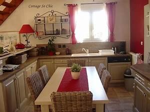 emejing deco cuisine campagne rouge images lalawgroupus With decoration interieur maison de campagne