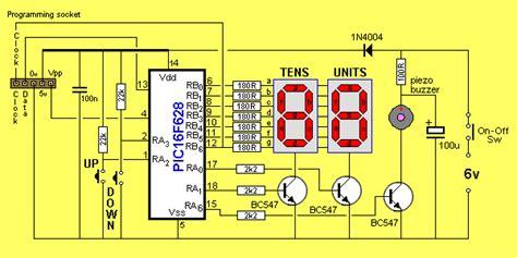 Seven Segment Counter Timer Circuit