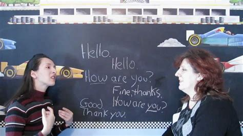Lesson 1 - Learn English with Jennifer - Greetings - YouTube