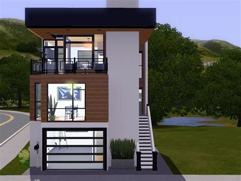Narrow Lot House Plans Modern
