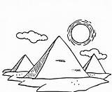 Pyramid Coloring Drawing Pyramids Giza Sketch Egyptian Three Pages Drawings Egypt Coloringsky Template Printable Sketches Sky sketch template