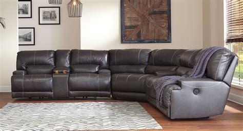 mccaskill gray reclining sectional signature design