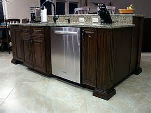 kitchen island with sink and dishwasher high end kitchen remodel amish custom furniture