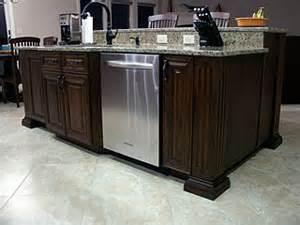 kitchen island with dishwasher high end kitchen remodel amish custom furniture