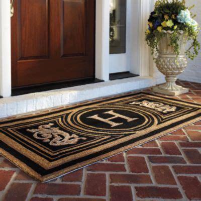doormat for doors wingate monogrammed entry mat fyi this is what