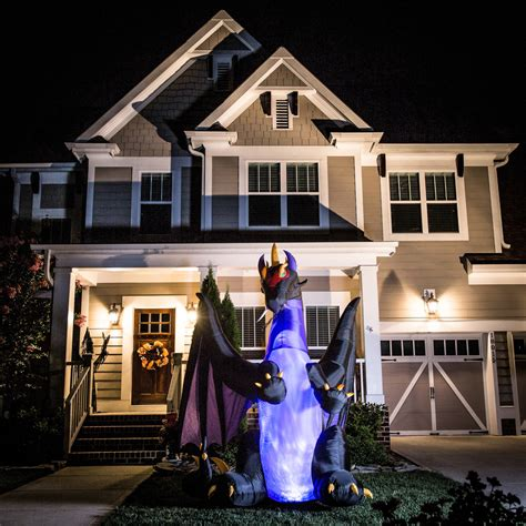 holiday living halloween lights shop holiday living 8 ft x 8 ft animatronic lighted dragon