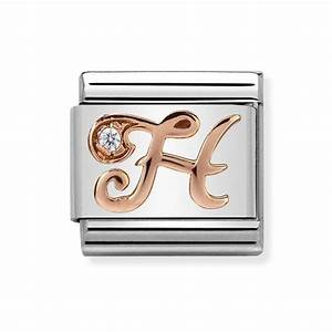 Nomination CLASSIC Letters Rose Gold H Charm 430310/08 ...