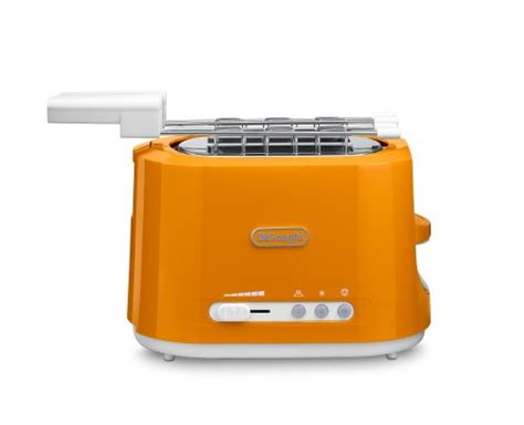 delonghi tostapane delonghi cte2303o orange toaster my kitchen accessories