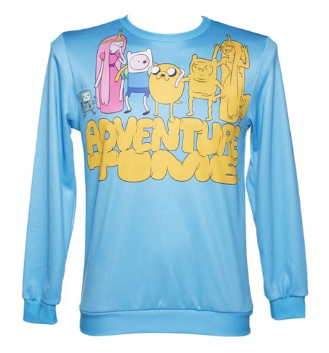 adventure sweater unisex blue adventure characters sweater from mr gugu