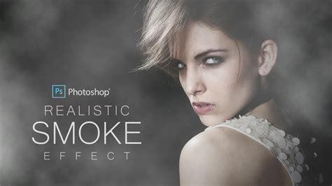 create realistic smoke effect portrait  photoshop