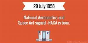 National Aeronautics and Space Act signed – NASA is born
