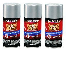 3 cans duplicolor bns0598 for nissan code k12 silver mist