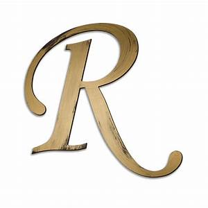 individual script letters wall decor letter r With decorative letter r for wall