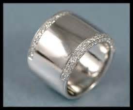wide wedding bands white gold wide womens band trendy mods