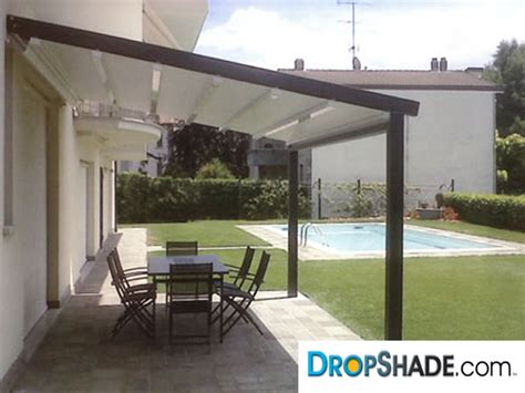 dropshade overhead shade systems  retractable awnings