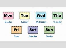 Aprendemos los días de la semana en ingles con este