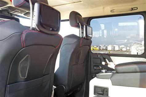 mercedes pickup truck 6x6 interior two 6 wheeler mercedes benz g63 amg trucks headed for the