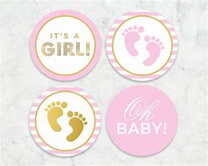 It's a Girl Printable Tags Labels Cupcake Toppers
