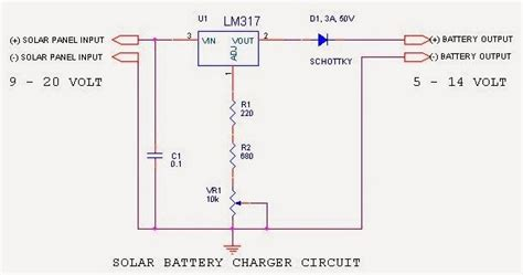 Solar Battery Charger Using Simple Circuit Schematic