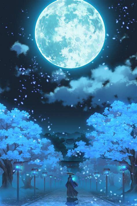 moon aesthetic anime wallpapers