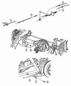 2016 Ram 1500 Guide  Parking Brake Cable  Attaches To Rear Suspension Lower Control Arm