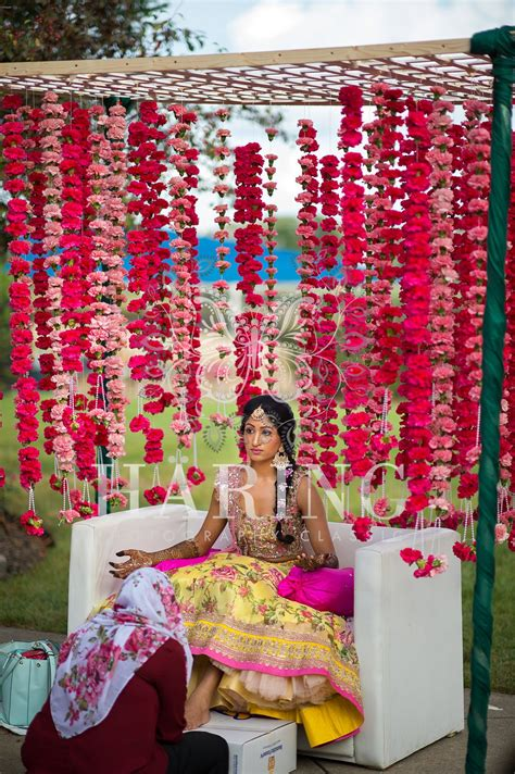 simple mehndi wedding decoration neha miami wedding
