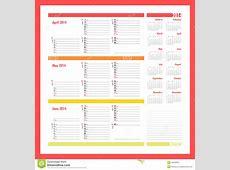 calendar month april 2014