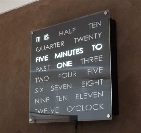 Wanduhr Mit Worten by Complete Wordclock Kit Dougs Word Clocks