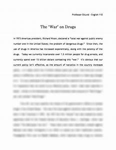 Research Paper Essay Examples War On Drugs Essay Outline Template First Person Essay Example Essay In English Language also Types Of English Essays War On Drugs Essay Transfer Essay Example War On Drugs Essay  Diwali Essay In English