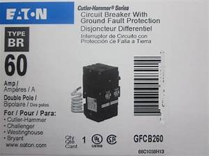 Double Pole Gfci Circuit Breaker  60 Amp