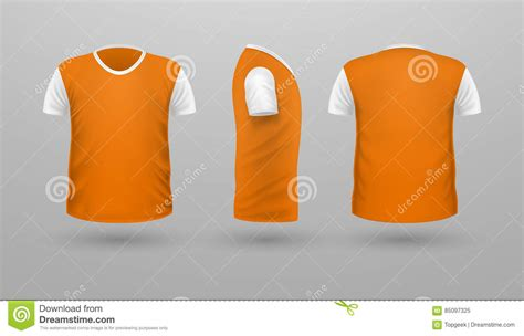 shirt teplate set front side  view vector stock