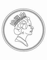 Coloring Coin Penny Coins Pages Nickel Clipart Gold Printable Clip Library Getcolorings Popular sketch template