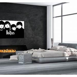 Tableau Moderne Noir Et Blanc : tableau moderne the beatles ~ Teatrodelosmanantiales.com Idées de Décoration