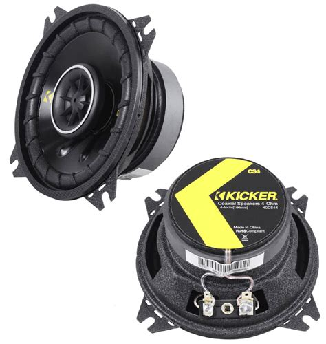 kicker door speakers kicker cs44 car stereo 4 quot coaxial 150 watt range pair