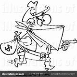 Robber Clipart Illustration Royalty Pages Rf Toonaday Leishman Ron Template Colouring Coloring Robbers Cops Bank Sample sketch template
